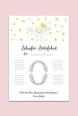 Zahnfee Zertifikat POSTER DIN A4 Zahnfee Poster zum Ausfüllen
