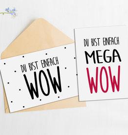 Postkarten Set Du bist WOW