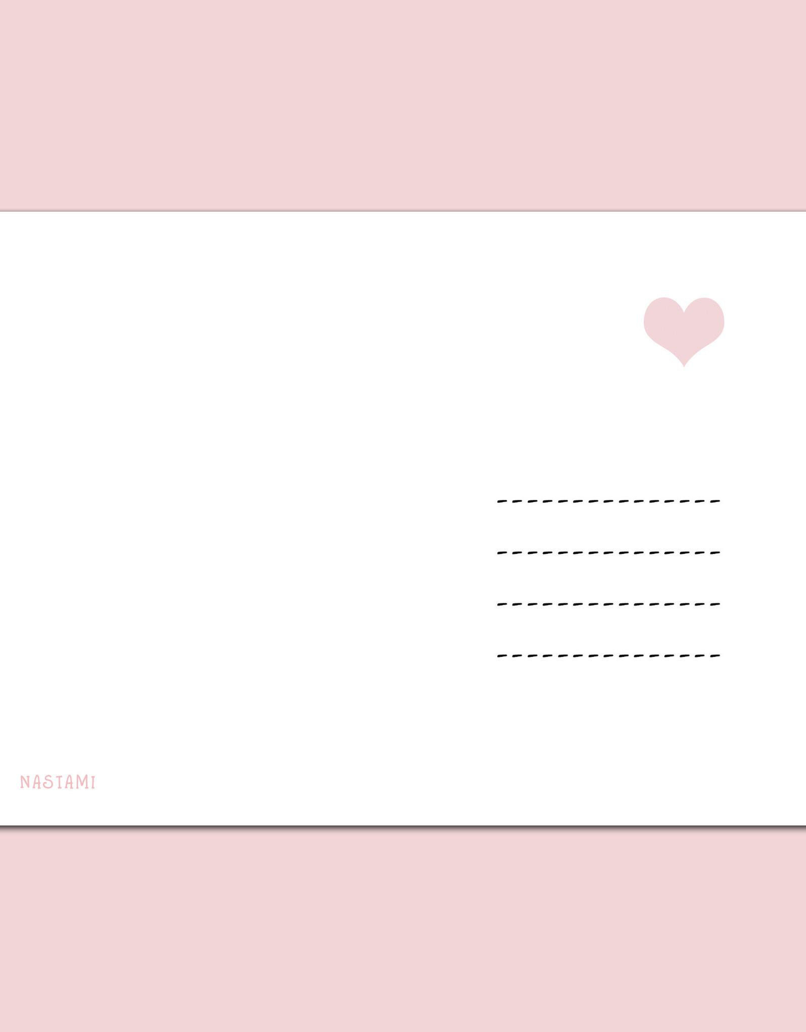 Postkarte TANTE inkl. Briefumschlag Tante Geschenk Du wirst Tante Karte