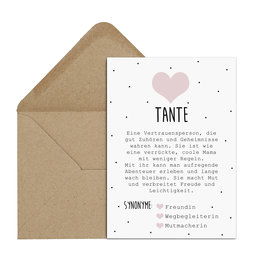 Postkarte TANTE inkl. Briefumschlag
