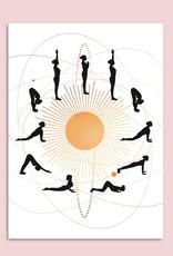 Poster YOGA Sonnengruß DIN A3 Yoga Poster Yogaübungen Geschenk Freundin