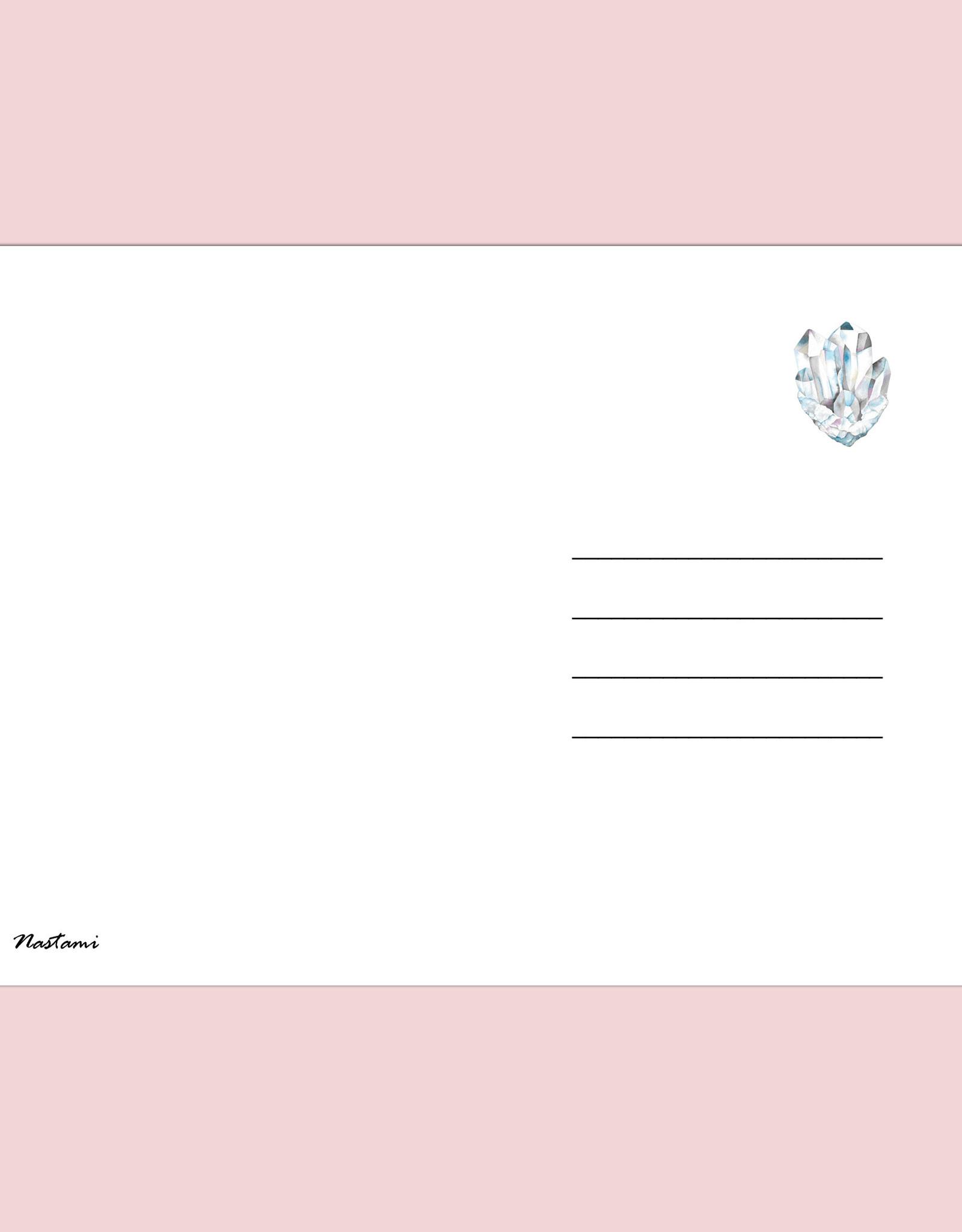 Postkarte Edelsteine Bedeutung Kristalle Grußkarte Edelsteine Heilsteine