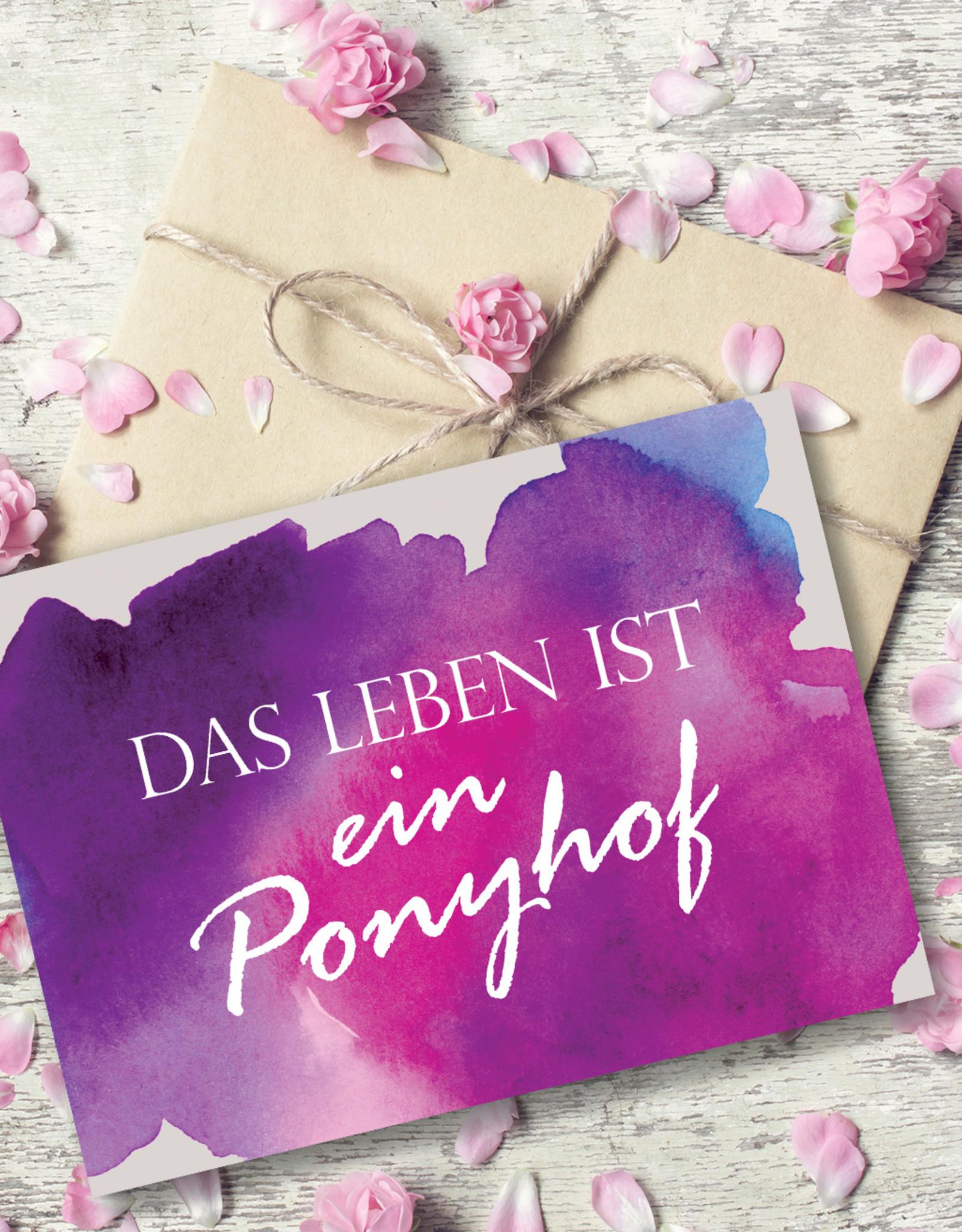 Postkarte Spruch Ponyhof  Motivationskarte