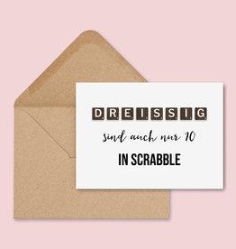 Geburtstagskarte SCRABBLE inkl. Umschlag