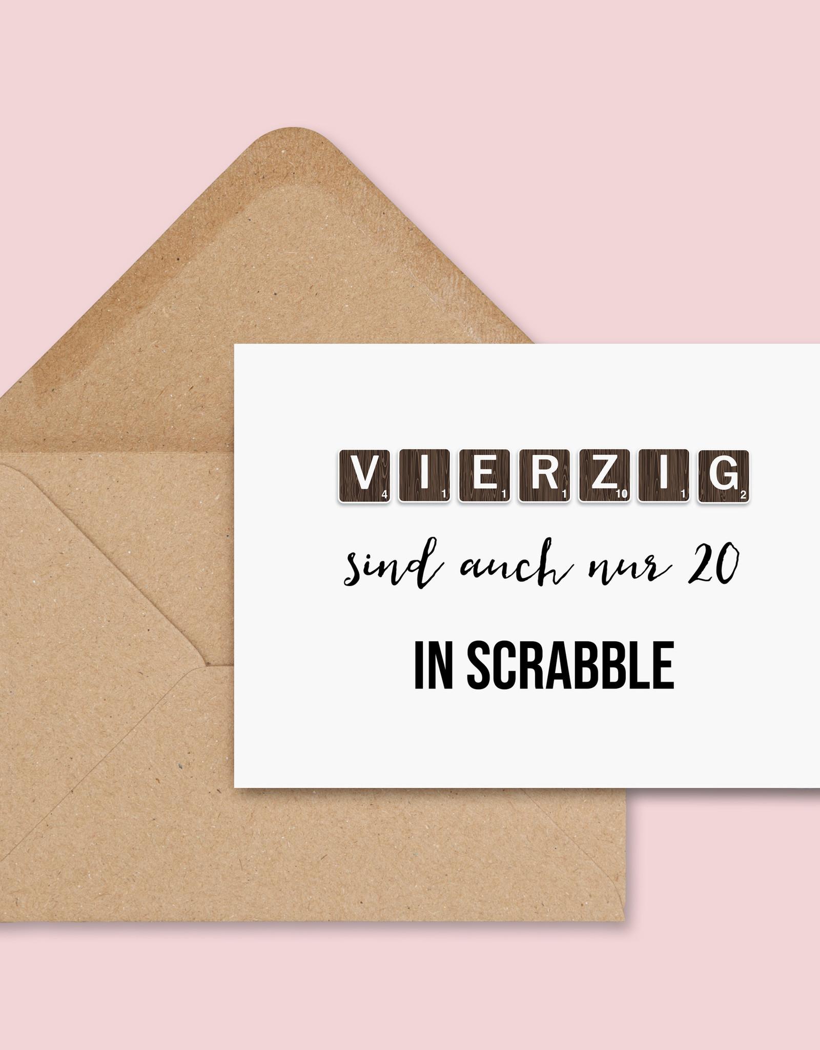 Geburtstagskarte SCRABBLE inkl. Umschlag Postkarte Geburtstag Geburtstagskarte 30, 40, 50, 60