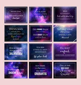 Postkarten Sprüche 12er Set UNIVERSUM