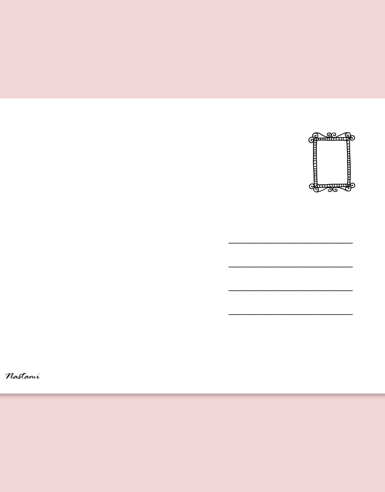 """Postkarte Spruch """"Ich habe nachgemessen. Du bist großartig"""" Postkarte Liebe"""
