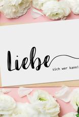 """Postkarte """"Liebe sich wer kann"""" Postkarte SPRÜCHE Postkarte Liebe"""
