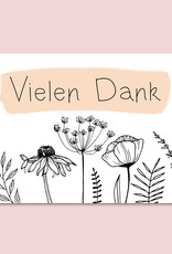 Postkarte Vielen Dank FLOWERS