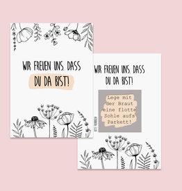 50 Rubbelkarten Hochzeit FLOWERS