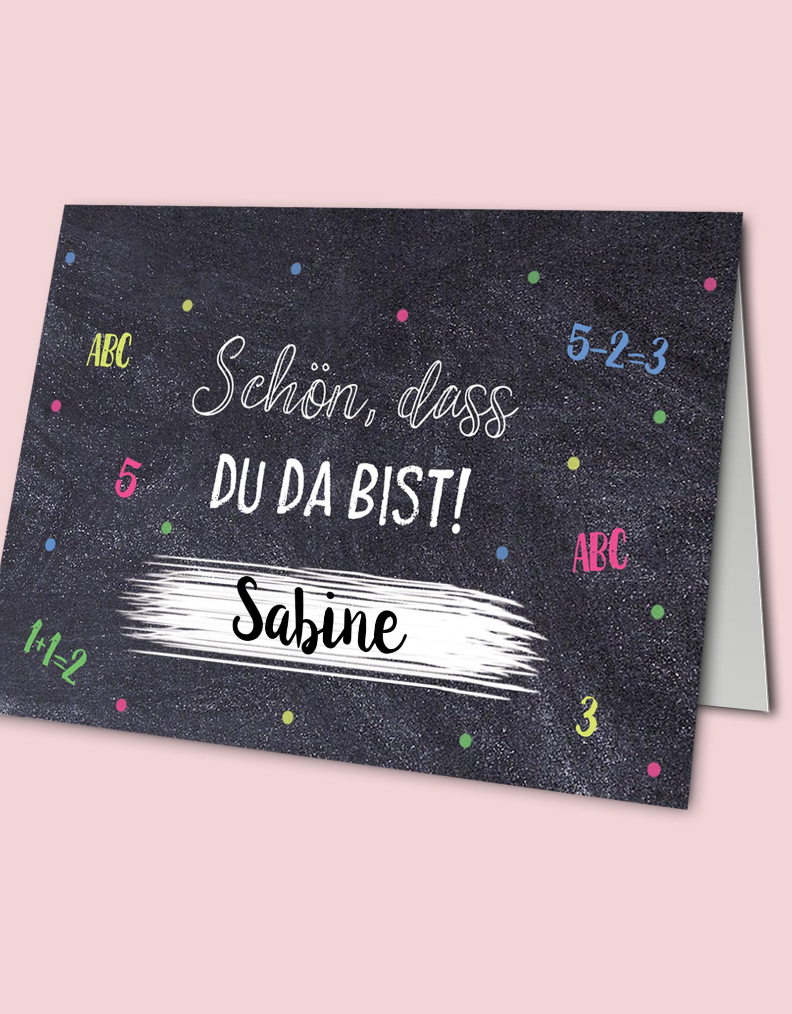 Platzkarten SCHULANFANG 20 Stück Tischkärtchen Einschulung Namenskarten Tischdeko Schulanfang