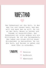 Postkarte RUHESTAND Definition inkl. Briefumschlag Ruhestand Geschenk Kollege