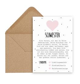 Postkarte Definition SCHWESTER