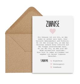 Postkarte Definition ZUHAUSE