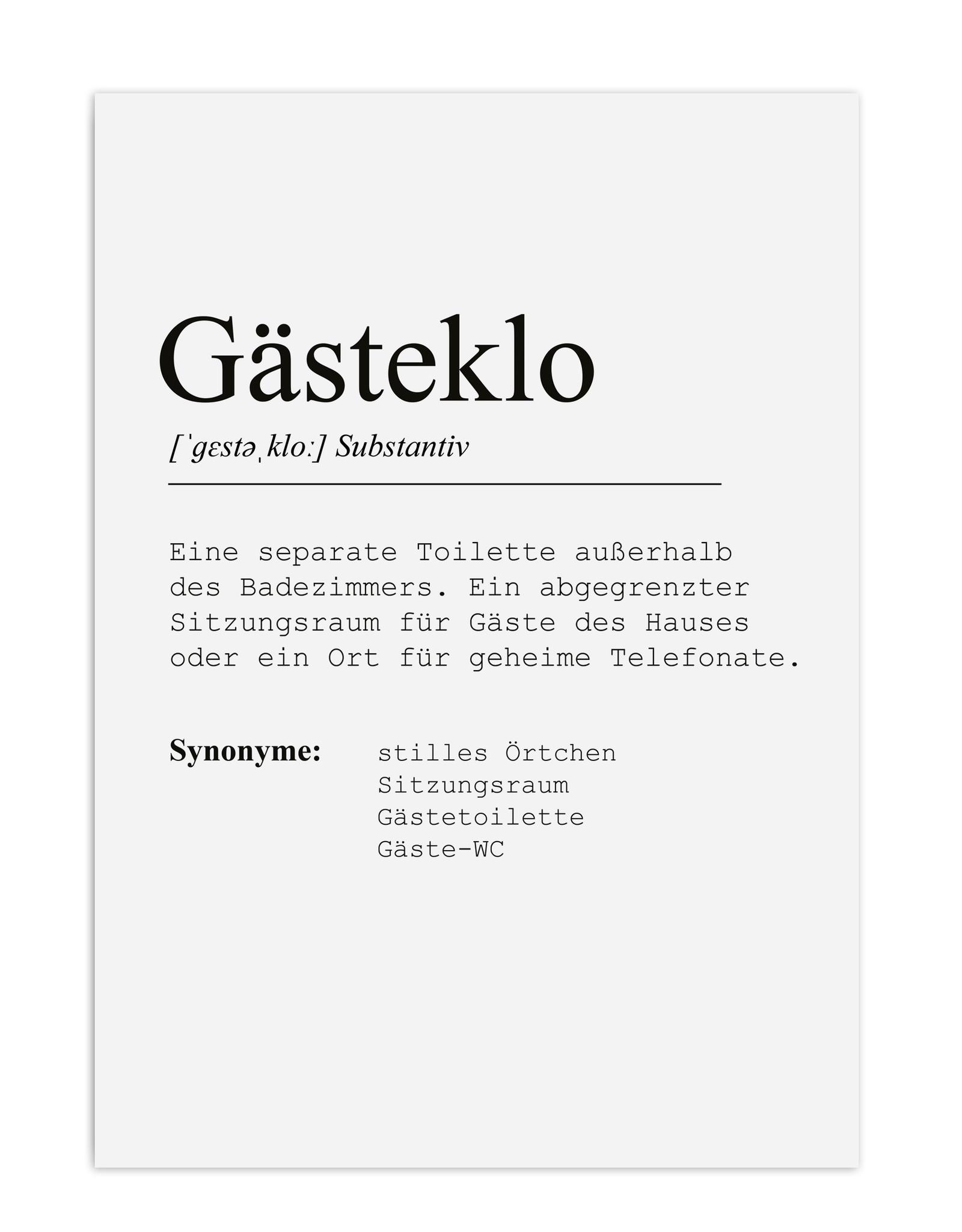 Poster Gästeklo DIN A3 Badezimmer Poster Bad Definition Poster