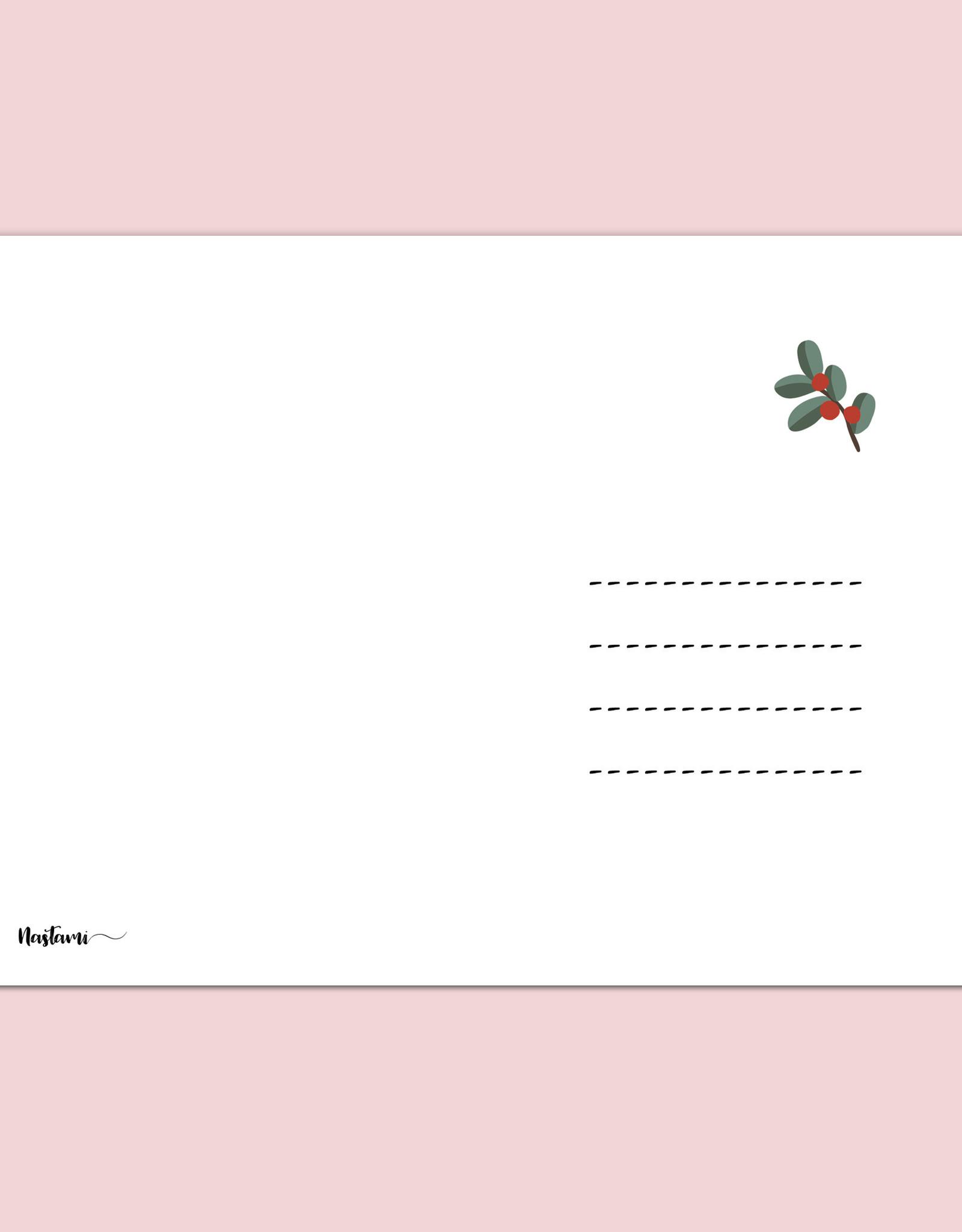 Weihnachtskarte Vanillekipferl Rezept Postkarte