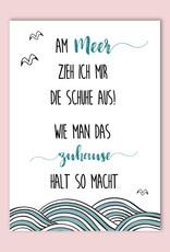 Sprüchekarte MEER Schuhe aus Postkarte Meer Grußkarte Meer