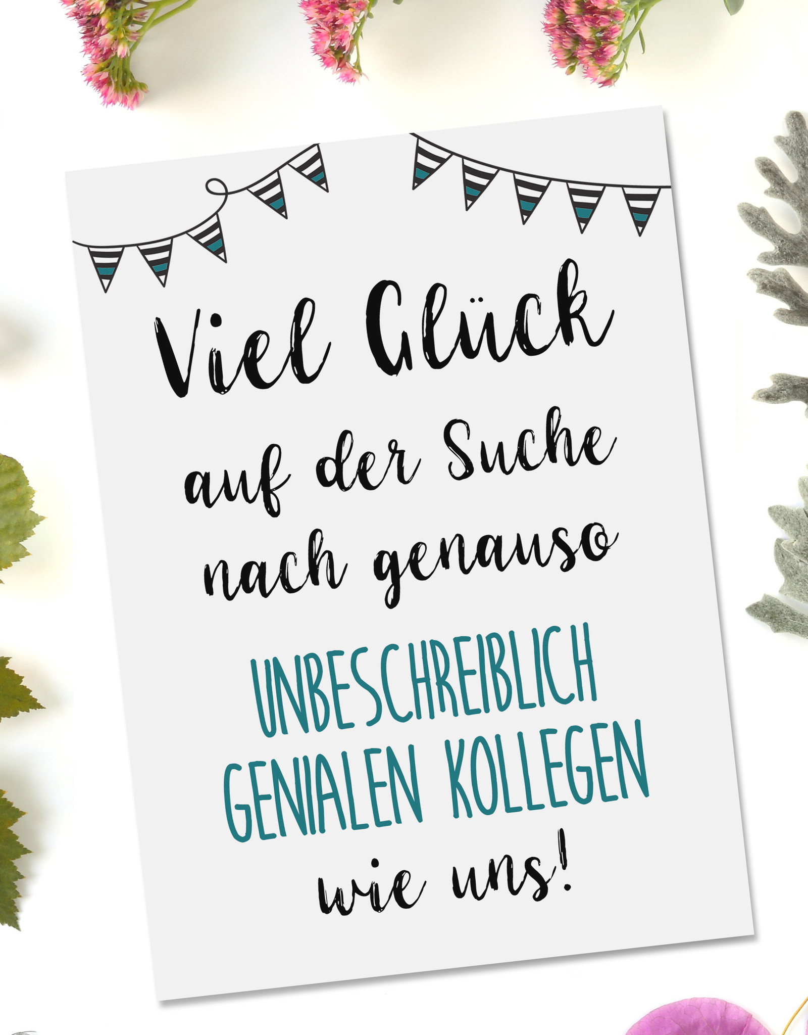 Postkarte Jobwechsel Geschenk Kollegen Abschied Karte