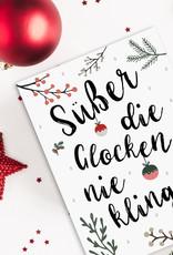Weihnachtskarte Süßer die Glocken nie klingen Postkarte Weihnachten