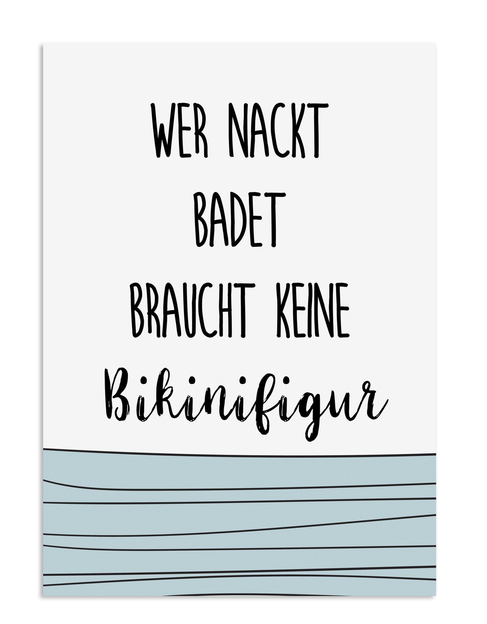 Badezimmer Poster Bikinifigur DIN A3 Badezimmer Poster Bad Badezimmer Deko