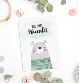"Postkarte ""Hallo kleines Wunder"""