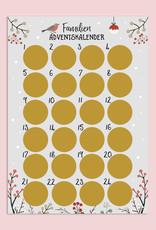 Familien Adventskalender zum Rubbeln A3 GRAU Weihnachtskalender für die ganze Familie