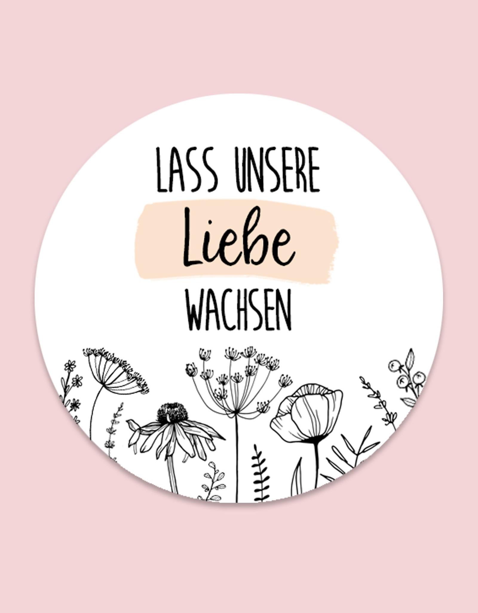 """50 Sticker """"Lass unsere Liebe wachsen!""""FLOWERS"""