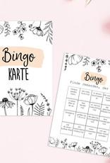 50 Bingokarten FLOWERS Hochzeitsspiele Gäste