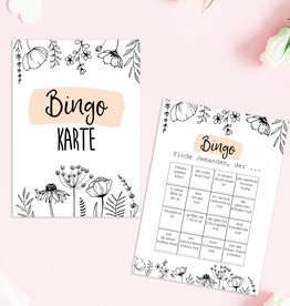 50 Bingokarten FLOWERS Hochzeitsbingo
