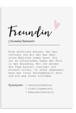 Poster FREUNDIN Definition DIN A4 Geschenk Freundin