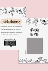 50 Fotoaufgaben Hochzeit zum Rubbeln FLOWERS Rubbelkarten