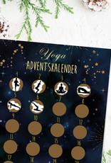 YOGA Adventskalender zum Rubbeln DIN A4, Rubbeladventskalender Adventskalender Weihnachtskalender YOGA Poster