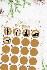 YOGA Adventskalender zum Rubbeln DIN A3 HELL