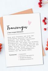 Postkarte TRAUZEUGIN Definition inkl. Briefumschlag Trauzeugin Geschenk