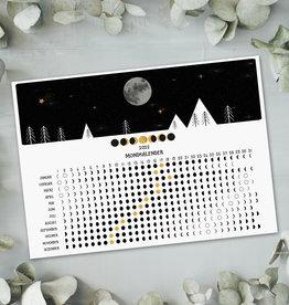 Postkarte Mondkalender 2022