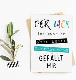 "Postkarte Geburtstag ""Lack ist ab"" Geburtstagskarte"