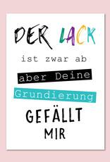 "Postkarte Geburtstag ""Lack ist ab"" Geburtstagskarte, Geburtstags Postkarte, Karte Geburtstag Geschenk Glückwunschkarte"