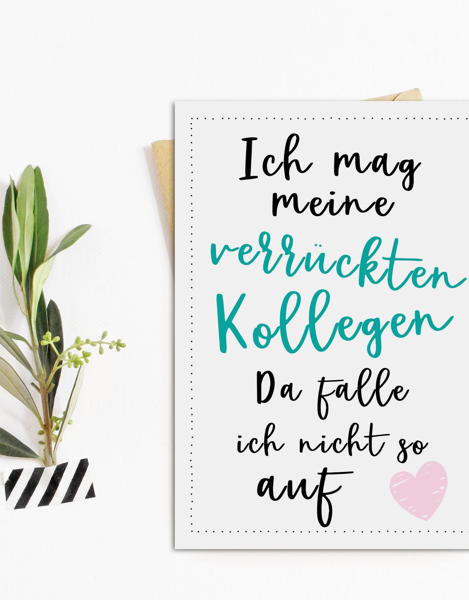 Postkarte Verrückte KOLLEGEN Geschenk Kollege Grußkarte Kollegin