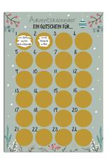 Adventskalender zum Rubbeln GUTSCHEIN FÜR... Gutschein Adventskalender A3 Weihnachtskalender