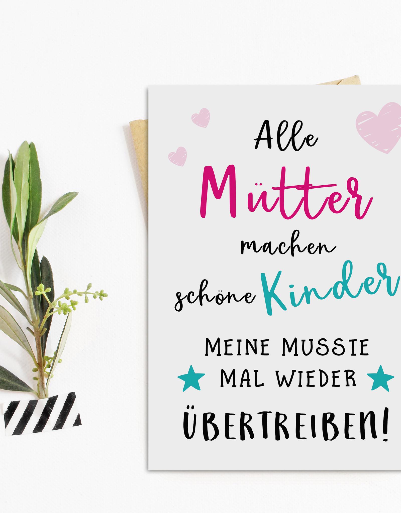 Muttertagskarte Postkarte Muttertag SCHÖNE KINDER Muttertag Karte, Muttertag Geschenk, Muttertag Geschenkideen