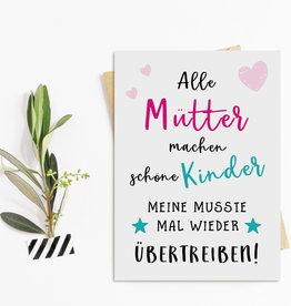 Muttertagskarte Postkarte Muttertag SCHÖNE KINDER
