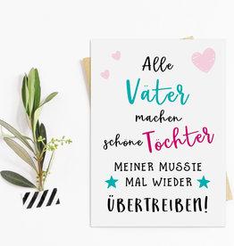 Vatertagskarte Postkarte Vatertag SCHÖNE TÖCHTER