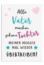 Vatertagskarte Postkarte Vatertag SCHÖNE TÖCHTER Vatertag Karte, Vatertag Geschenk, Vatertag Geschenkideen