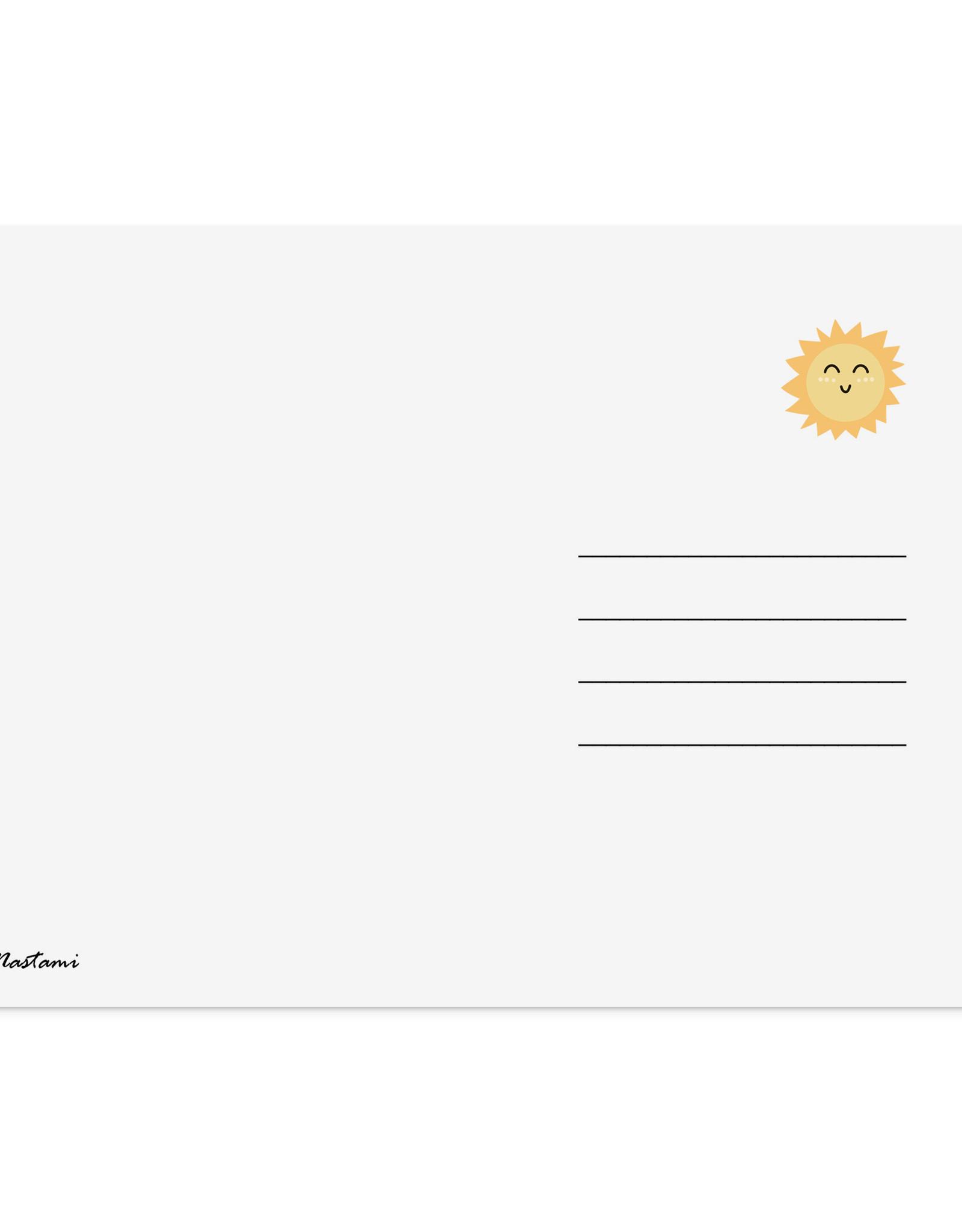 Postkarte kleines Wunder ELEFANT Baby Karte Geburt inkl. Umschlag