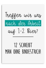 Postkarte 12 Bier Sprüche Karte lustig After Work Party