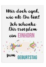 Geburtstagskarte EINHORN egal wie alt du bist Einhorn Karte Postkarte Einhörner