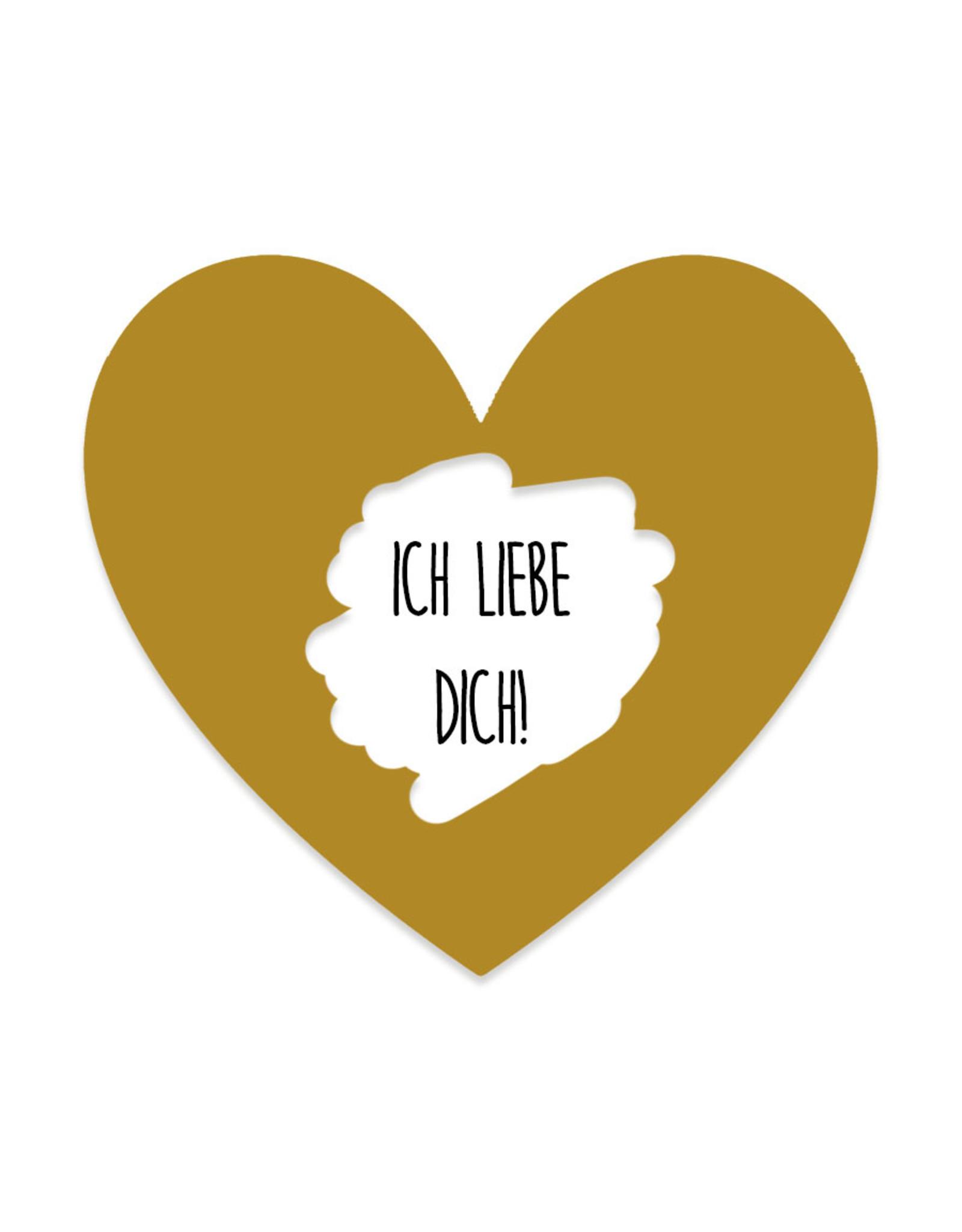 25 Rubbeletiketten Herz GOLD, Rubbelsticker Herz 6,5 cm
