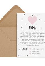 Postkarte UROMA Definition inkl. Briefumschlag Uroma Geschenk Schwangerschaft verkünden