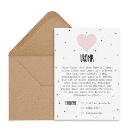 Postkarte UROMA Definition inkl. Briefumschlag
