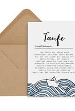 Postkarte TAUFE Definition inkl. Umschlag Glückwunschkarte Taufe Geschenk